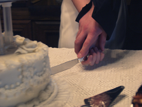 Cutting the Wedding Cake Cattleman's Steakhouse